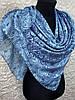Женский хлопковый голубой платок в этническом стиле (цв.5)