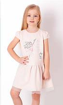 Літнє плаття для дівчинки з фатином Mevis Бежеве р. 92, 98, 104, 110, 116