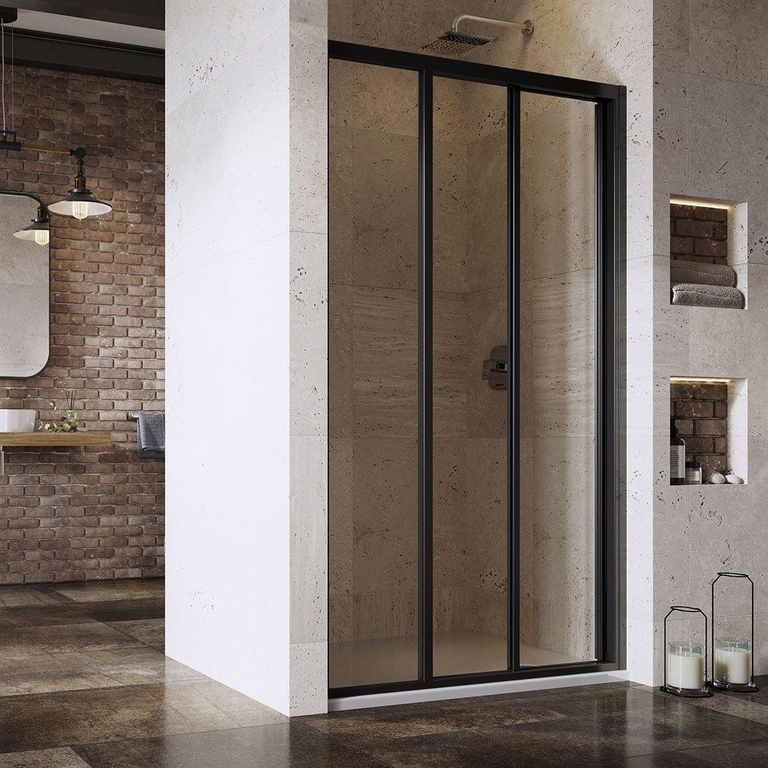 ASDP3-100 198 (Transparent) Black Душевая дверь