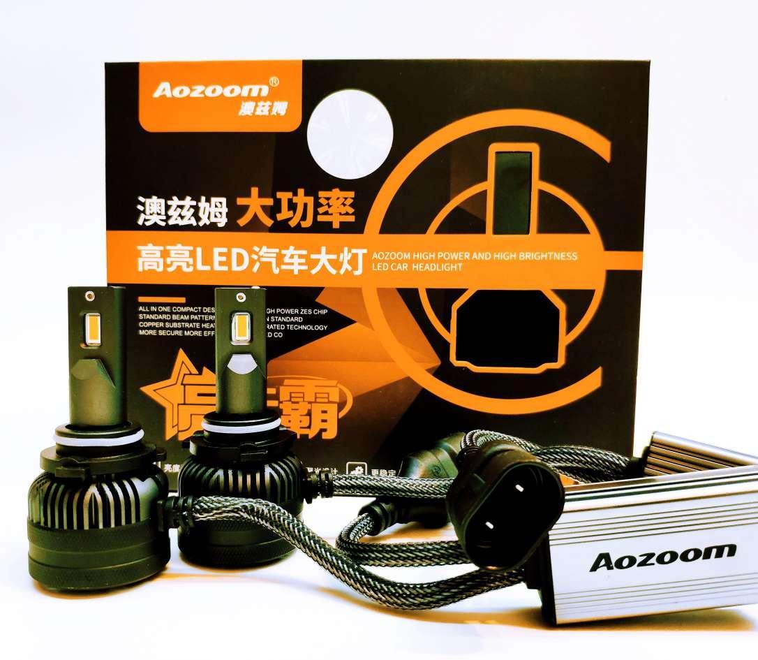 LED светодиодные авто лампы Aozoom L8, HB4, 9006, 5500K, 7600 Люмен, 90 Вт, 9-18В CANBUS