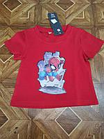 Детская трикотажная футболка Человек-паук для мальчика 2-5 лет,цвет красный