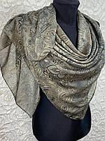 Женский хлопковый платок в этническом стиле цвет хаки (цв.6)