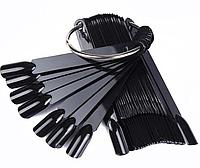 Демонстрационная палитра - веер на 50 типс, Мягкий квадрат 6,7 см.