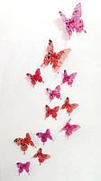 "Бабочки 3D лиловые ""LOVE"" 3Д декор наклейки"