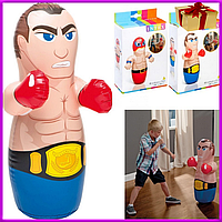 Детская Надувная игрушка неваляшка для игры в воде и для дома Боксер и борец, 2 вида,