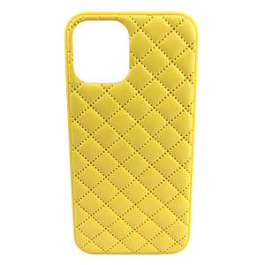 Чохол накладка xCase для iPhone 11 Pro Quilted Leather case Yellow
