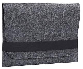 "Папка-конверт з повсті для MacBook 13.3"" Dark gray (GM14/15)"