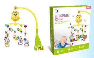 Музыкальный детский мобиль на колыбельку с пятью подвесками HL 2020-23 R, работает от батареек