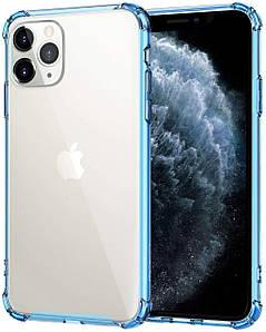 Чехол накладка для iPhone 11 Pro Max Simple Pure Angle Blue