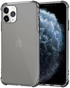 Чехол накладка для iPhone 11 Pro Max Simple Angle Silicone Transparent Black