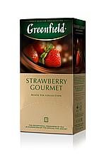 "Чай чорний STRAWBERRY GOURMET 1,5гх25шт. ""Greenfield"" , пакет"