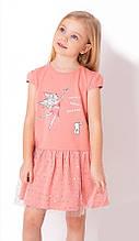 Літнє плаття для дівчинки з фатином Mevis Коралове н. 92, 98, 104, 110, 116