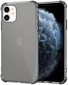 Чехол накладка для iPhone 11 Simple Angle Silicone Transparent Black