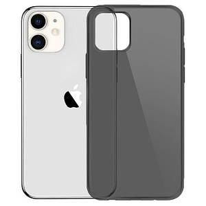 Чехол накладка для iPhone 11 Simple Silicone Transparent Black
