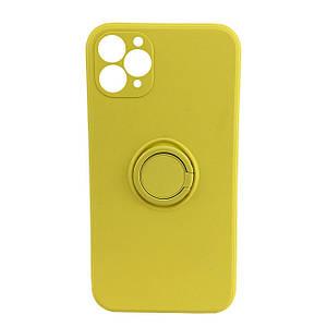 Чехол xCase для iPhone 11 Pro Max Silicone Case Full Camera Ring Yellow