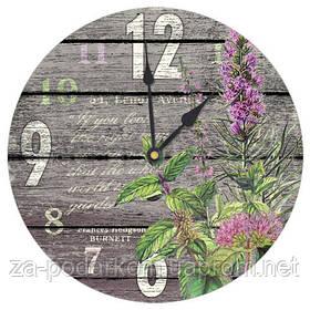 Годинники настінні круглі, 36 см Квіти