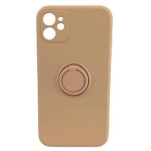 Чехол xCase для iPhone 11 Silicone Case Full Camera Ring Grapefruit
