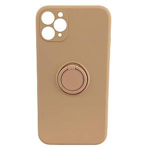 Чохол xCase для iPhone 11 Pro Silicone Case Full Camera Ring Grapefruit