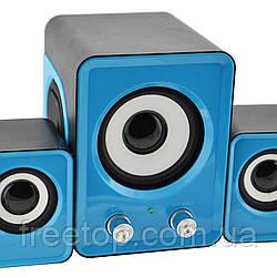 Колонки комп'ютерні 2.1 SY Mini IS-12 Blue