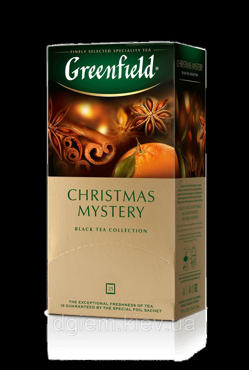 """Чай черный CHRISTMAS MYSTERY 1,5гх25шт. """"Greenfield"""" , пакет"""