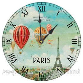 Годинники настінні круглі, 36 см Париж