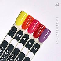 Палитра оттенков гель-лаков Siller Skittles (8 мл)