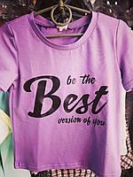 Подростковая футболка BEST для девочек 7-12 лет,цвет уточняйте при заказе, фото 1