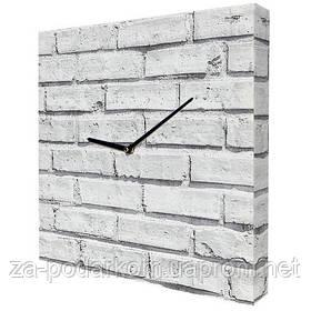 Годинники настінні квадратні, 35 см Цегляна стіна