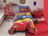 Стеганное покрывало TAC Disney Cars Nitroade 160×220см + наволочка