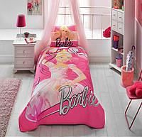 Стеганное покрывало TAC Disney Barbie Balerina 160×220см + наволочка