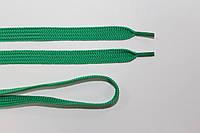 Шнурки плоские 10мм, зеленый трава