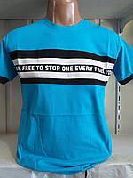 Мужская трикотажная футболка НАДПИСЬ размер норма 46-52,цвет уточняйте при заказе, фото 1