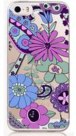 """Силиконовый чехол """"Фиолетовые цветы"""" для Iphone 5/5S"""