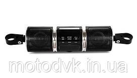 Аудиосистема с Bluetooth и ЖК-дисплеем, крепление на руль, черная (MT-487)