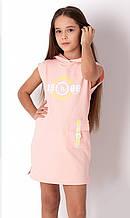 Літнє плаття для дівчинки спортивного стилю Mevis персикове р. 116, 122, 128, 134, 140