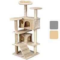 Ігровий комплекс для кішок AVKO Sissy когтеточка, будиночок, дряпка Бежевий