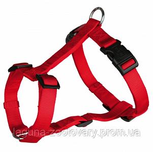 Шлейка для собак 75-100см/25мм, стандарт, красный