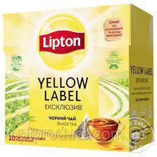 """Чай """"Lipton"""" пирамидка  эксклюзив черный 20 пакетов"""