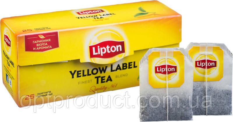 """Чай """"Lipton"""" чорний 25 пакетів"""