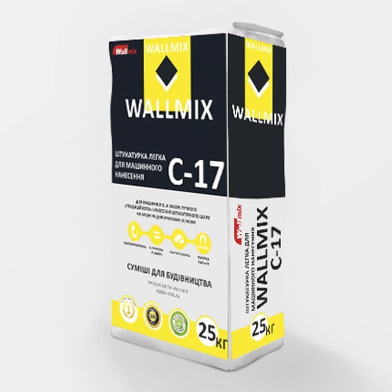 Штукатурка цементно-вапняна з перлітом WALLMIX C-17 (Валлмикс) для машинного і ручного нанесення (25кг)