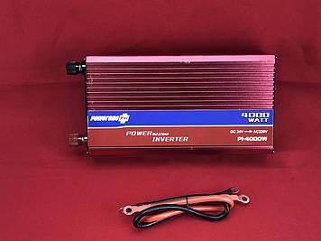 Преобразователь PowerOne + 12V-220V 4000W + USB (PI-4000W)