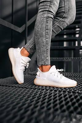 Кроссовки мужские Adidas Yeezy Boost 350 V2 Cream White CP9366 Адидас Изи Буст 350 в 2 Белый Размер 46