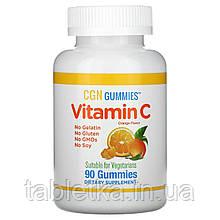 California Gold Nutrition, жевательные таблетки с витаминомC, натуральный апельсиновый вкус, без желатина,