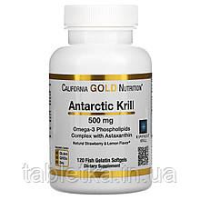 California Gold Nutrition, масло антарктического криля RIMFROST с астаксантином, натуральный