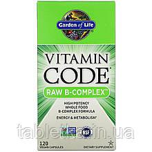 Garden of Life, Vitamin Code, Raw B-Complex, 120веганских капсул