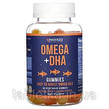 Havasu Nutrition, Omega + DHA Gummies, Natural Lemon & Orange, 60 Vegetarian Gummies