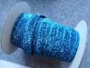 Стрічка велюрова, блискуча, 10 мм, темно-блакитна