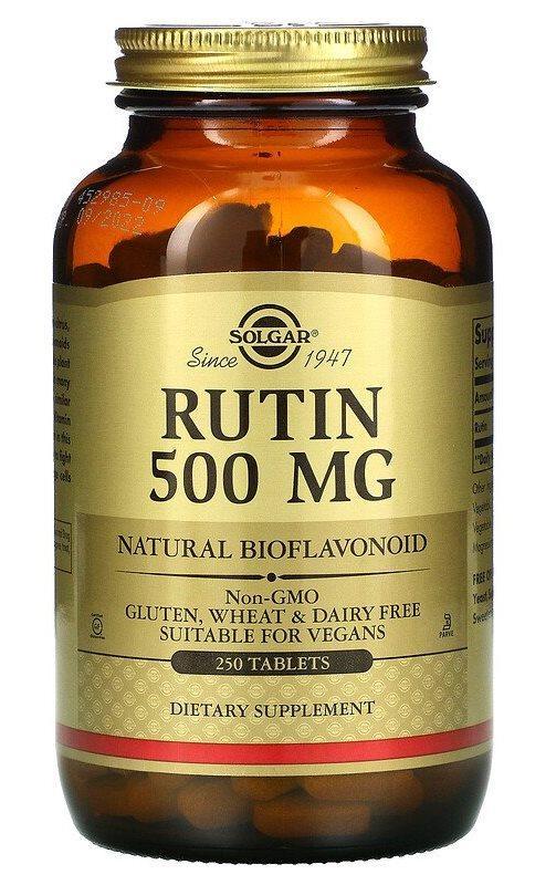 Solgar Rutin 500 250 mg Tablets