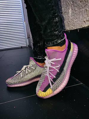 Кроссовки мужские Adidas Yeezy Boost 350 V2 Violet Адидас Изи Буст 350 в 2 Фиолетовый Размер 46