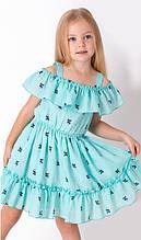 Літнє плаття сарафан для дівчинки Mevis блакитне р. 110, 116